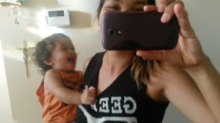 Baby Giggles so hard  - Video