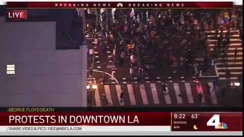 Watch 15 minutes of LA rioting