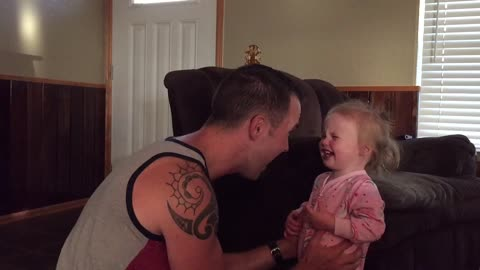 Daddy making baby Avery historically laugh!