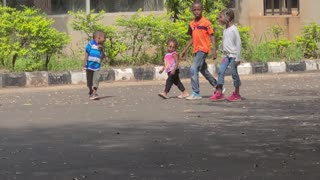 Cute African kids playing