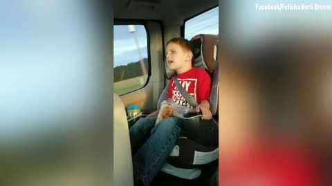 Blind Boy Sings 'How Great Thou Art'