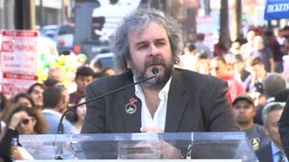 Peter Jackson receives star on Hollywood Walk of Fame - Video