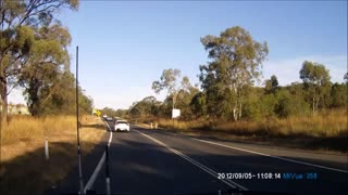 Car Flies Off Embankment - Video