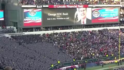 Army Navy Game moment of silence for George H.W. Bush