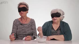 Grandmas Do Blindfold Touch Test Part 2 - Video