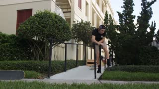 Wooden ramp rail slide stomach fold - Video