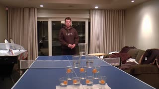 10 Cup Vertical Pyramid Shot - Video