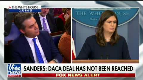 Sanders Slams Combative CNN Reporter Jim Acosta So Hard That the Entire Press Room Erupts