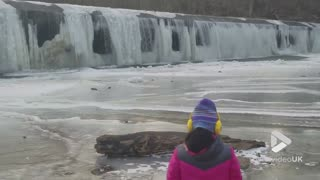 Patapsco River Frozen - Video
