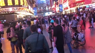 Party on Fremont Street at 1 AM