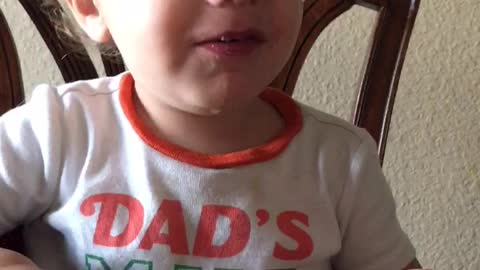 Baby Has a Potty Mouth