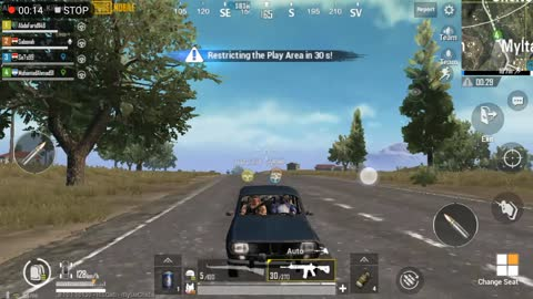 Fighting Gang Driving Party In Pubg Game