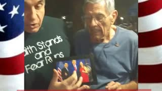 91 Year Young Vet has Special Message for President Trump...