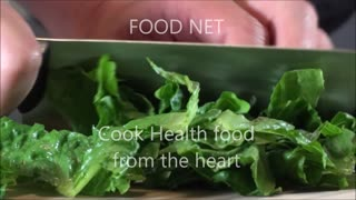 FOOD NET - Cook Health food from the heart - Cut lettuce - Video