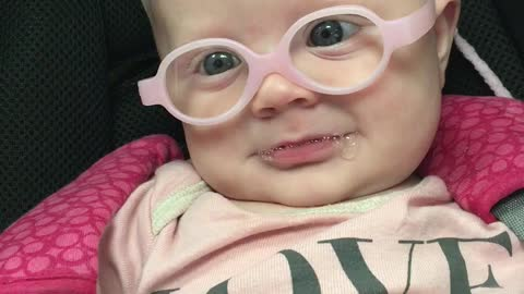 Watch as this precious baby sees her mother clearly for the first time