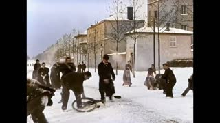 Snowball Fight From 1896 In Lyon, France (124 years ago)