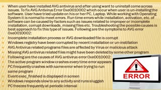 Fix AVG Antivirus Error 0xe0010002  Dial +44-800-046-5292 - Video