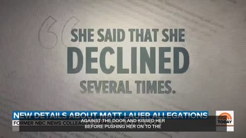 New report on Matt Lauer rape accusation stuns 'Today' co-anchors