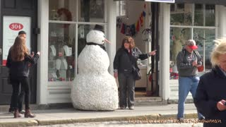 Snowman Spreads Holiday Cheer By Scaring Unsuspecting Passersby