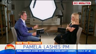 Pamela Anderson accuses Australian PM of making 'lewd' comments about her