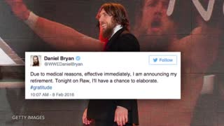 Daniel Bryan Announces His Retirement at WWE Monday Night Raw - Video