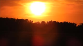 Clear Autumn Sunset in High-Speed - Video