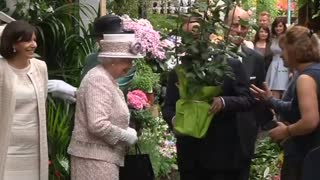 Flowers for Queen Elizabeth in Paris - Video