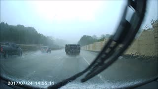 Instant Justice When Car Uses Emergency Lane to Pass - Video
