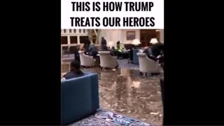 Trump let's Troops stay at his hotel for FREE