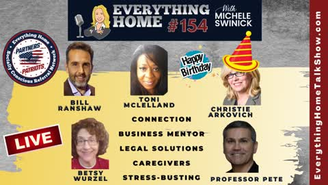 154 LIVE: Connection, Business Mentor, Legal Solutions, Caregivers, Stress-Busting