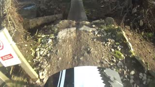Mtb crash @ llandegla b-line boardwalk epic fail! gopro hd - Video