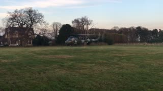 Westland Scout Helicopter Landing at Old Warden