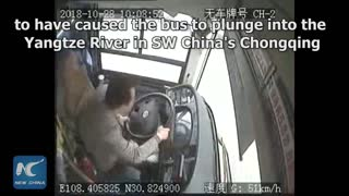 Fight between passenger & driver blamed for deadly China bus plunge