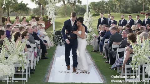 Man with severe spinal cord injury walks on his wedding day