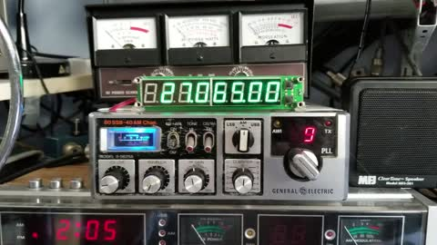 Frequently Display on a GE CB radio