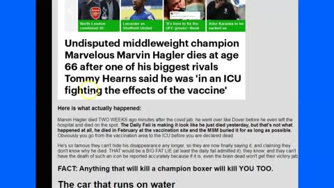 Did the Vaccine Jab 'Knockout' Marvelous Marvin Hagler - He Just Passed Away 'Unexpectedly'?
