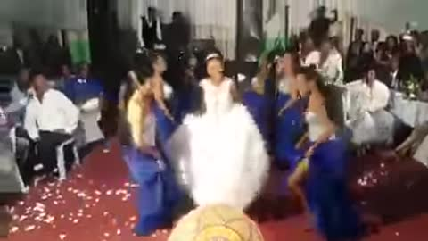 The most relaxed bride and maids