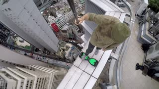 Hoverboard on High Rise - Video