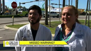 Engineer Left Voicemail About Cracking on Florida Bridge Days Before It Collapsed - Video