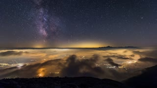 The Milky Way over Mt. Triglav - Video