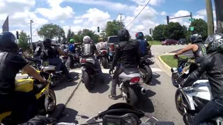 Truck Road Rage Attempt to Wipe Out Bikers - Additional Angle - Video