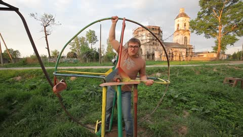 Weird Playground With Swings That Resemble Medieval Torture Devices