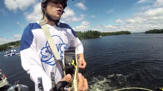 Rapping and playing guitar while flyboarding! - Video