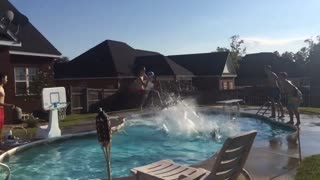 The Most Epic Poolside Basketball Trick Shot - Video