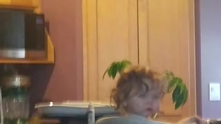 Head banging baby  - Video