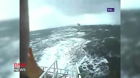 Nine-hour Rescue for Fishing Boat Crew in Stormy Seas