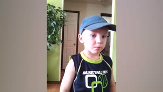 Little Boy Masters The Art Of Chewing Gum - Video