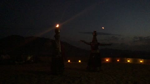 Dancing with fire in india