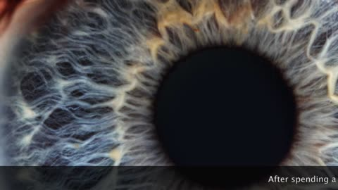Close up of eye in motion