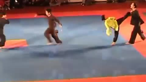 Martial art dancing performance clip